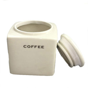 Ceramic Contracted Design Porcelain Coffee Tea Sugar Kitchen Containers Jar