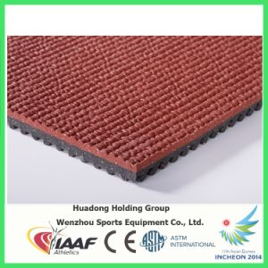 Iaaf Rubber Base Carpet Top Running Track Mat pictures & photos