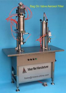 PLC Controlled Bag-on-Valve Aerosol Filling Machine