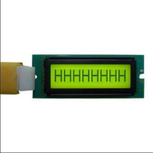 Standard LCD Module 8*1 with Yellow/Green LED Backlight