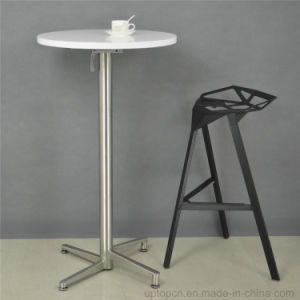 Folding MDF Painting Top Metal Leg Round Bar Table (SP-BT675) pictures & photos
