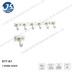 304 Stainless Steel Straight Clothes Robe Hook (E17-A1)