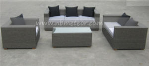 Outdoor Wicker Sofa Set with Pillow and Cushion (MTC-034) pictures & photos