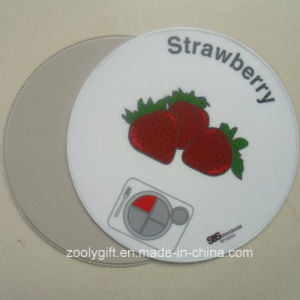 Round Shape PVC Coaster Strawberry Round PVC Cup Placemat pictures & photos