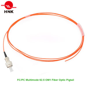 PVC/LSZH Jacket Multimode 62.5 Om1 FC PC Fiber Optic Pigtail pictures & photos