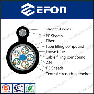 Fiber Optic Messenger Cable 48 Cores Singlemode Self-Supporting pictures & photos