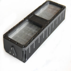 Aluminium Die Casting Process Black LED Heat Sink LED Lamp Housing