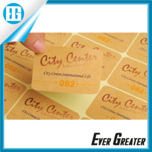 Custom Clear Round Stickers, Kraft Paper Tag pictures & photos