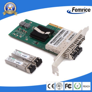 PCI Express X4 Quad 4 Port SFP Gigabit Fiber Optic Server Network Adapter  LAN Card (Intel I350 Based)