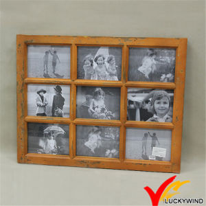China Wholesale Distressed Vintage 9 Opening Window Wooden Collage