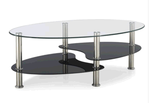 Glass MDF with High Gloss Home Furniture Coffee Table