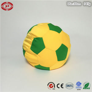Football Yellow and Green Custom Stuffed Foam Beads Soft Toy pictures & photos