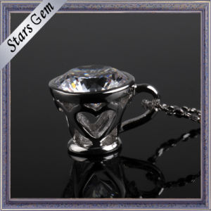 Fashionable Cup Shape Sterling Silver Jewelry Pendant for Deacoration pictures & photos