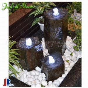Black Basalt Stone Fountains Pillars For Garden And Landscaping