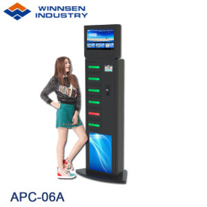 Shopping Mall Quick Free Charge Cell Phone Charging Station with Large  Advertising Screen