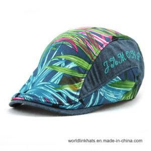China High Quality Short Brim Vintage Leaf Printing Fashion IVY Cap ... 8259174d014