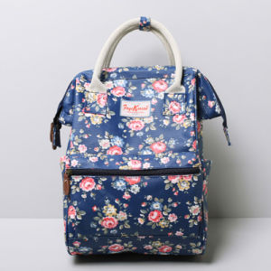 China Small Size Dark Blue Rose Floral Canvas Backpack (99239-1 ... 01cc22c7ab841