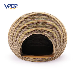 Oval Shaped Corrugated Handamde Cat Scratcher Cat Houses