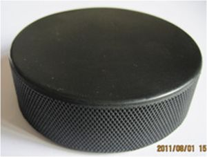 Black Ice Rubber Hockey Puck