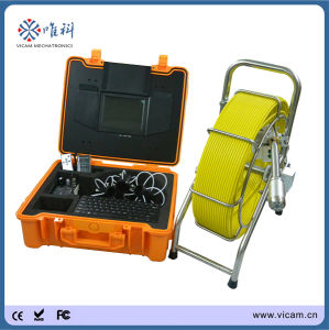 Professional Water Pipe Inspection Camera Video Endoscope System with 512Hz Sonde Transmitter pictures & photos