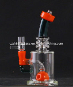 8 Inches Double Chamber Glass Recycler Bubbler with Drum Diffuser pictures & photos