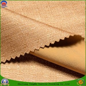 Woven Fabric Polyester Fabric Waterproof Fr Blackout Flocking Fabric for Curtain and Sofa pictures & photos