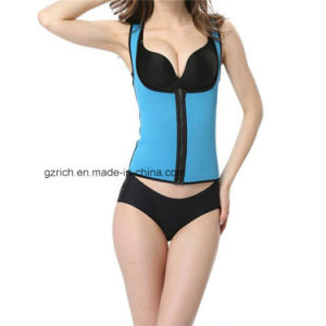 China Neoprene Ultra Sweat Sport Body Shaper Slimming Zipper Vest