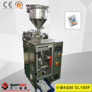 Oil/Juice/Tea/Ketchup/Shampoo Plastic Bag Four Side Seal Packing Machine