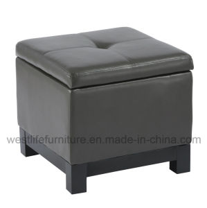 China Faux Leather Cube Storage Ottoman