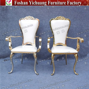 Wonderful Wedding Durable Fancy King And Queen Gold Throne Chairs For Sale Yc Ss32