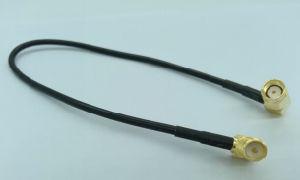 SMA Male Right Angle to SMA Male Right Angle Double SMA Coaxial Cable Assembly pictures & photos