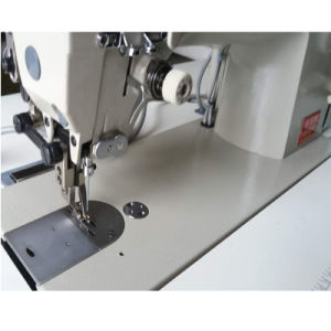 Computerized Flatbed Compound Feeding Auto Trimming Thick Material Sewing Machine (ZH0318) pictures & photos