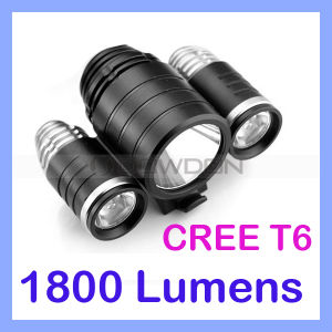 Waterproof 1800lm CREE T6 3 LED Power Bicycle Light Camping Cycle Lamp pictures & photos