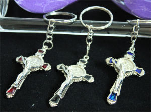 Christian Metal Crucifix Key Chain Religious Crafts (MX098)