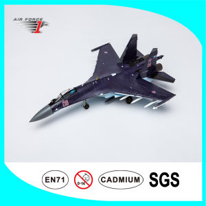 Diecast Flight Model Su35 with Alloy and ABS Material Purple Color