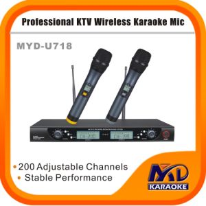 High Quality Good Sound UHF Dual Channel Wireless Microphone