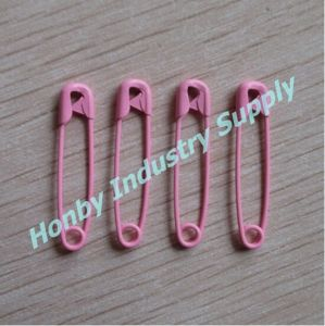 Shiny Hang Tags 28mm Steel Pink Colored Safety Pin