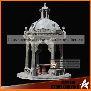 European Style Round Gazebo in Dark Green Marble Ns023 pictures & photos