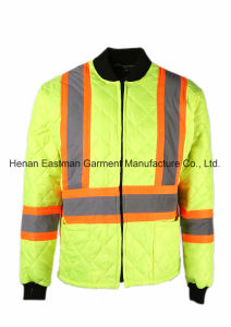 Hi Vis Quilted Freezer Jacket Winter Warm Jacket pictures & photos