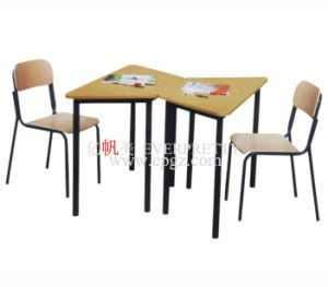 Cheap Children Furniture School Kid Wooden Desk and Chair pictures & photos
