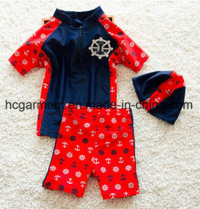 Swimming Suit for Kids, Boy′s Swimming T Shirts and Pants pictures & photos
