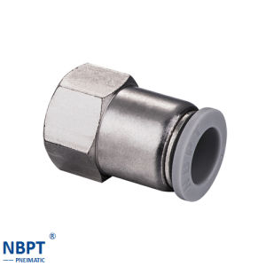 Pneumatic Fittings Pcf Female Straight Connector Pipe Fittings