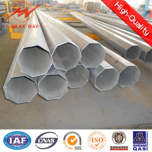 Multi Side 27.5m 15kn Galvanized Steel Sign Pole