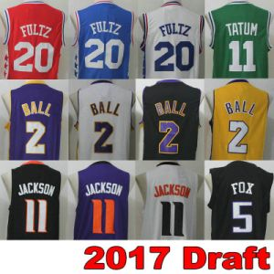 Draft Basketball Jersey 2017 Red Black Yellow White Blue Green Purple Orange Men Women Youth Sports Wear Vest Stitched