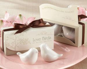 China Love Birds Wedding Ceramic Salt and Pepper Shakers for Wedding ...