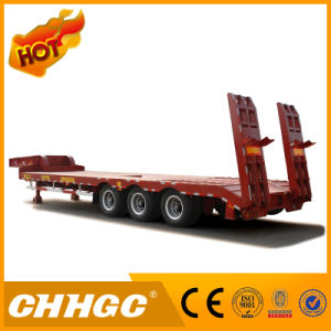 ISO CCC SGS Approved 3line 6axle Low Bed Semi Trailer