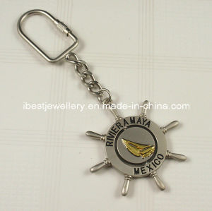 Souvenir-Rotating Metal Keyring with Mexico Logo