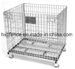 Hot DIP Galvanized Fodable Wire Storage Cage pictures & photos