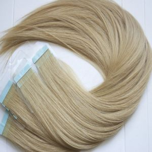Free Sample European Remy Blue Tape Human Hair Extension