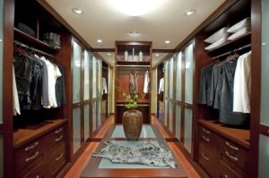 Solid Wood Wardrobe, Bedroom Furniture (walk in closet) #Yb-4